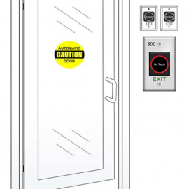 Reduce Germs with Touchless Automatic Entry Doors